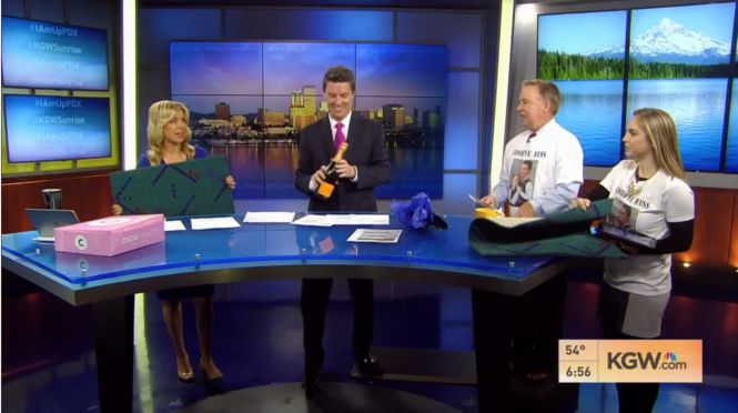 Weekday morning news co-anchor Russ Lewis said goodbye to Portland viewers and colleagues on the June 17 KGW News at Sunrise show. Lewis is going to a Houston station, to join his wife, Sally Ramirez, who left KGW for a job at KHOU-TV earlier this year.