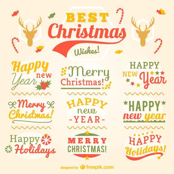 クリスマスのタイトルを文字組みしたベクターイラスト