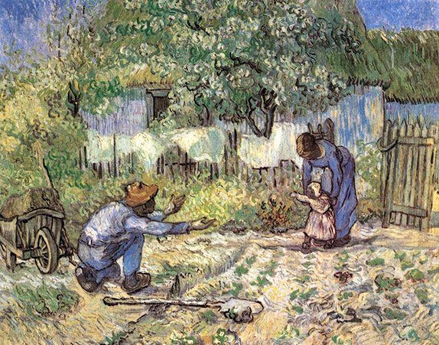 Τα πρώτα βήματα σε χωράφι - 1890 (από έργο του Ζαν Φρανσουά Μιλέ)
