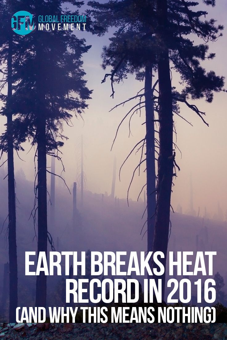 Earth Breaks Heat Record in 2016 and Why This Means Nothing by Mitch Battros | Global Freedom Movement