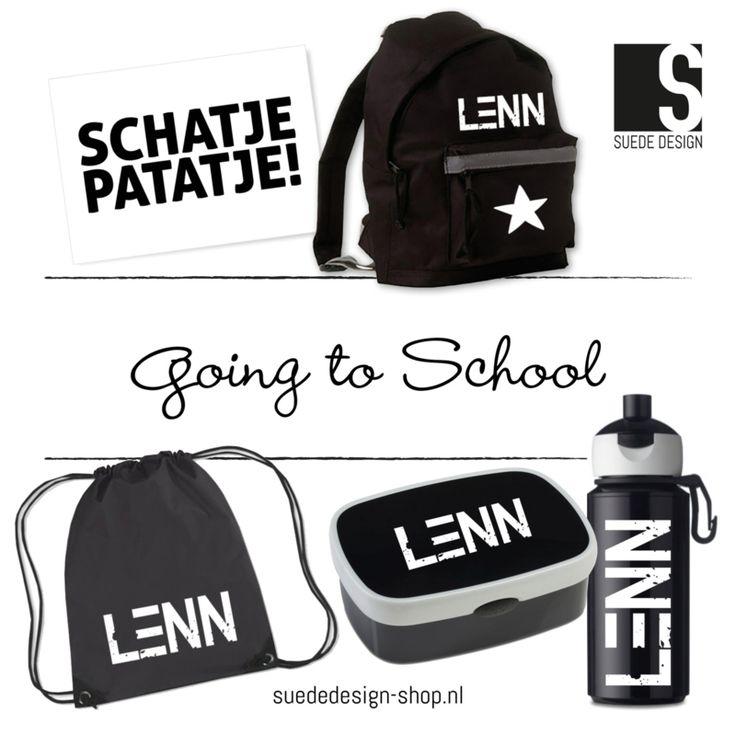 'Going to school' set #suededesign