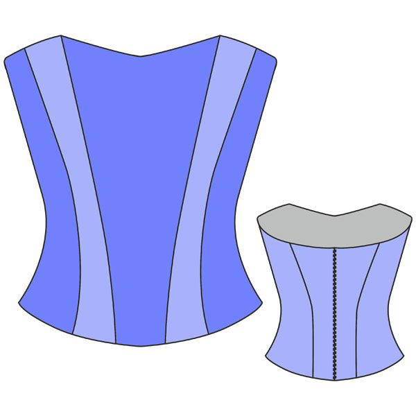 free pdf sewing pattern corset in russian, very easy to use