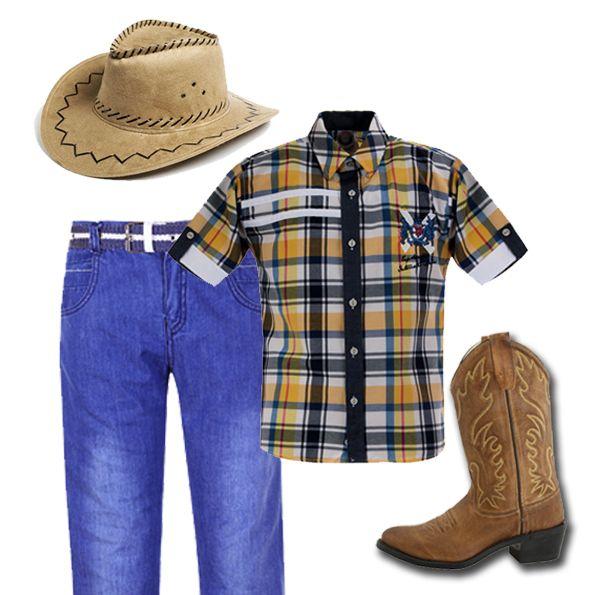 Превратиться в настоящего ковбоя и воплотить в жизнь приключения на Диком Западе! В костюм входят шляпа, стильная рубашка, ботинки и, конечно, джинсы! Этот комплект вдохновит бесконечное воображение ребенка на веселую и захватывающую игру.