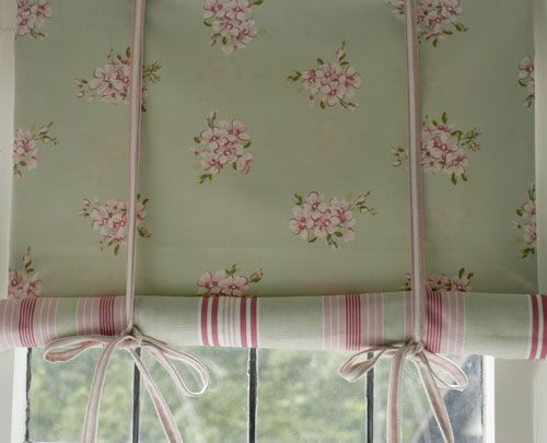how to make a simple fabric blind