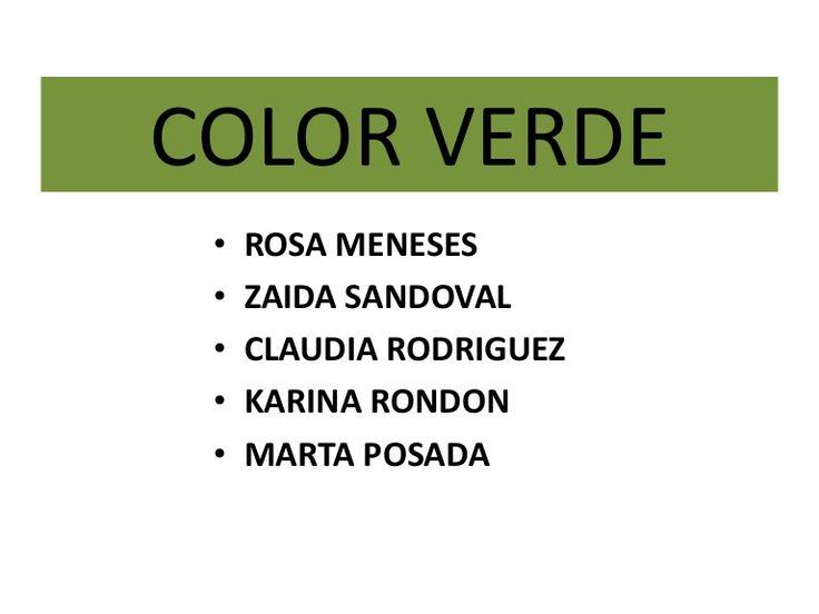 Significado del color verde