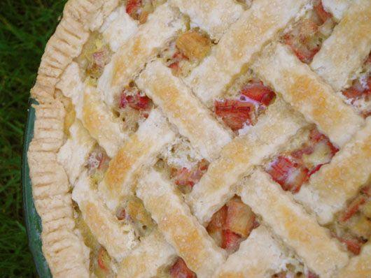 grandma renelt's rhubarb custard pie - Lovely pie shared from a farmgirl's dabbles