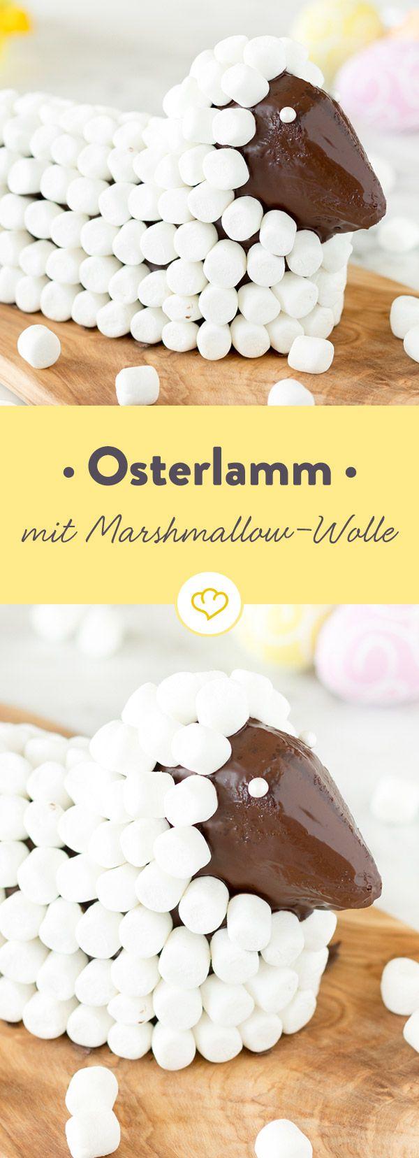 Ein Ostern ohne Osterlamm? Nicht auszudenken! Und dieses Exemplar kommt dann auch noch mit dem wohl kuscheligsten Fell der Welt daher...leckere Marshmallows.