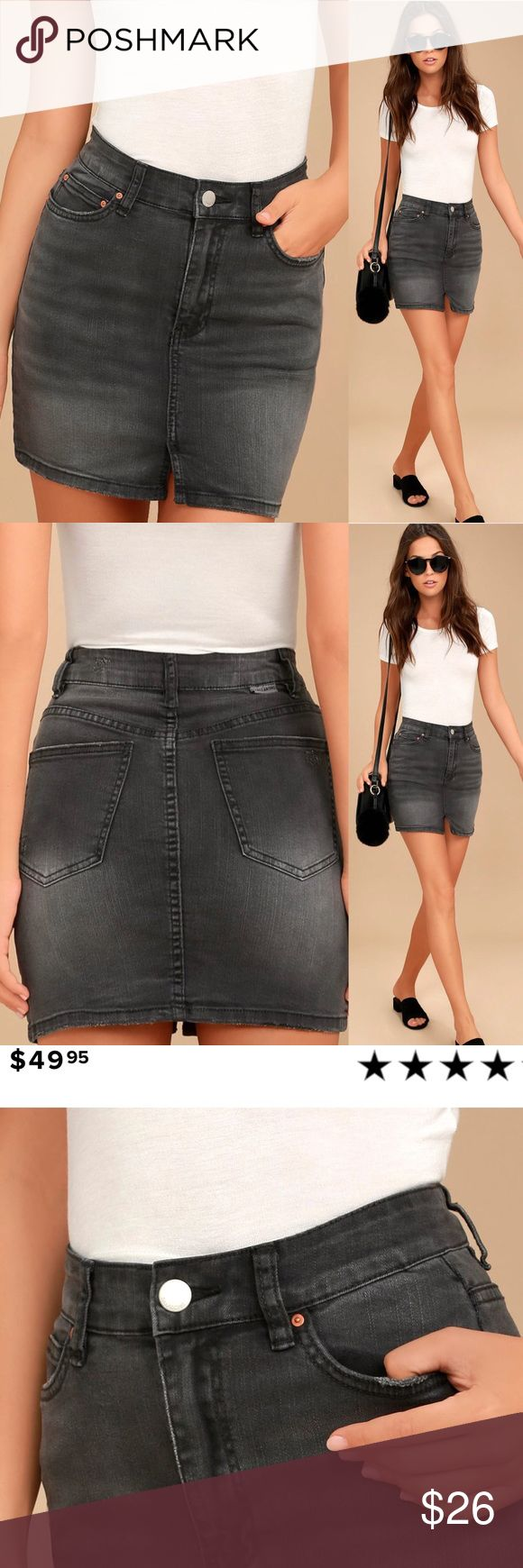 🆕 Billabong Washed Black Denim Mini Skirt Embrace the sunshine in the Billabong Black Washed Black Denim Mini Skirt! Stretch, washed denim falls from a belt loop-accented waistband into a five-pocket cut and a short, flirty hem with front slit. Branded top button and zip fly. Logo tag at back. Unlined. 98% Cotton, 2% Elastane. Machine Wash Cold. Billabong Skirts Mini