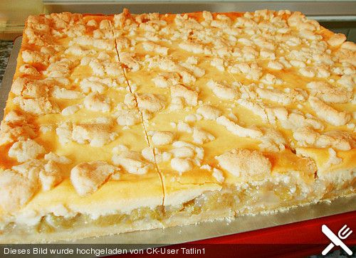 Streuselkuchen mit Rhabarber - Füllung (Rezept mit Bild)   Chefkoch.de
