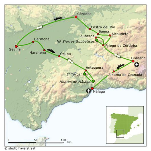 Andalusië rondreis | cultuurreis met auto vanuit hotels en villas