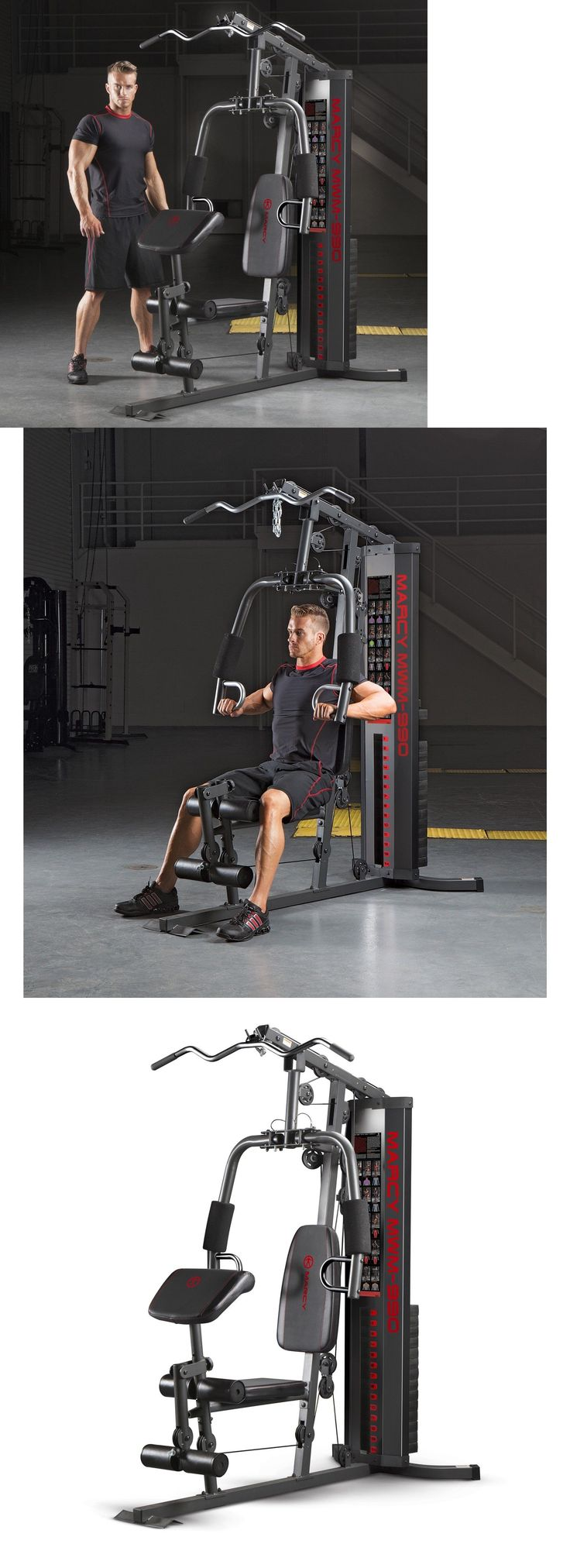 Home Gyms 158923: Home Gym Machine Equipment Fitness Exercise Workout Total Body Strength Training BUY IT NOW ONLY: $493.99
