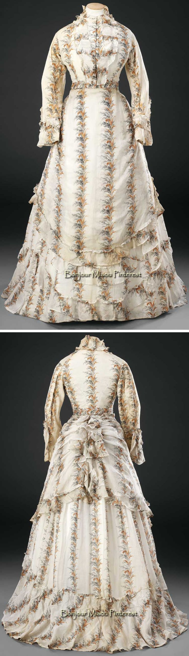 269 best 1868-1876 (Day Dress) images on Pinterest | 1870s fashion ...
