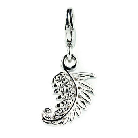 Silver Fern Sterling Silver Charm By ZALA | Shop New Zealand