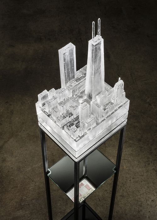 Norwood Viviano MINING INDUSTRIES: HANCOCK TOWER glass casting of 3D landscape scans