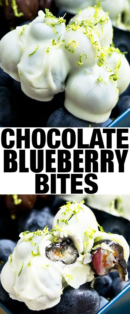 Quick and easy CHOCOLATE COVERED BLUEBERRIES recipe- Easy healthy snack for kids on the go OR healthy dessert for weight loss. These blueberry chocolate clusters are an easy 3 ingredient dessert. From cakewhiz.com