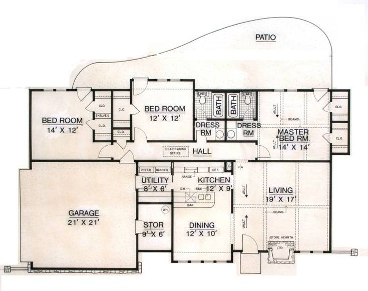 discover the turner ranch home that has 3 bedrooms and 2 full baths from house plans and more - Attached House Plans