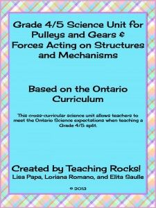 Grade 4/5 Science Unit: Pulleys and Gears & Forces acting Upon Structures and Mechanisms - Teaching Rocks!