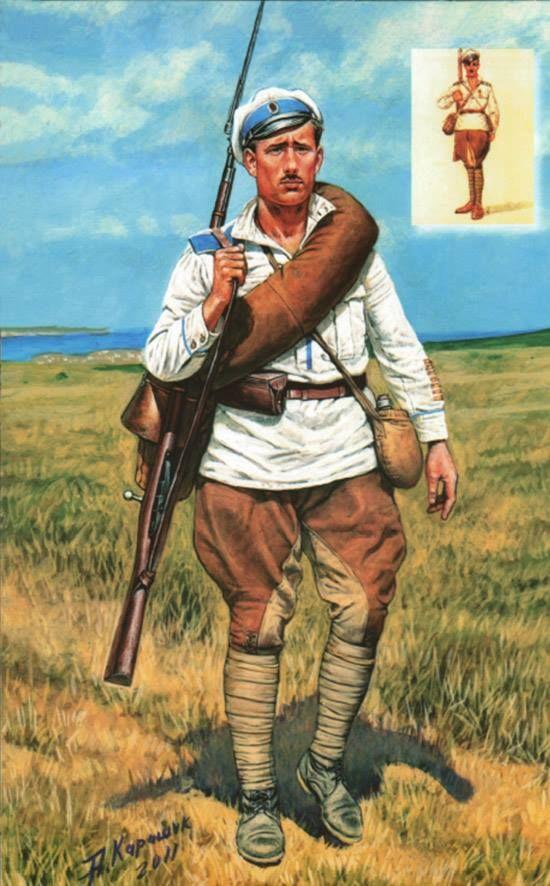 Private 1st Partyzanski General Alexeyev Regiment. August 1920 Kuban.