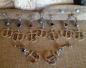 Nautical Anchor Belly Rings, surgical steel.