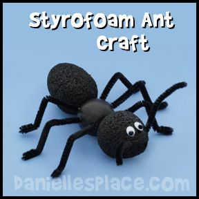 Ant Craft - Styrofoam Ant Craft for Kids from www.daniellesplace.com