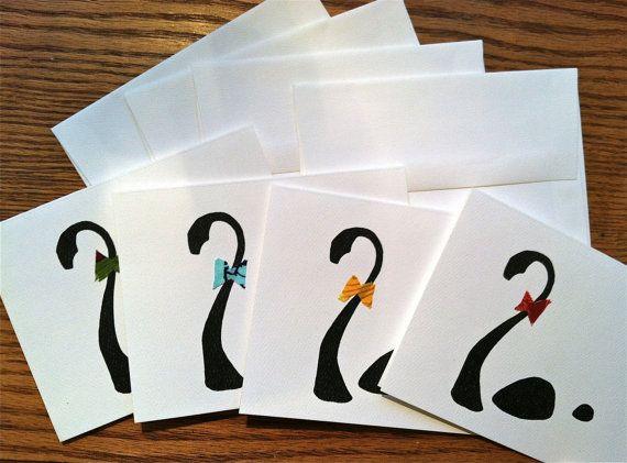 Dapper Nessie Greeting Cards