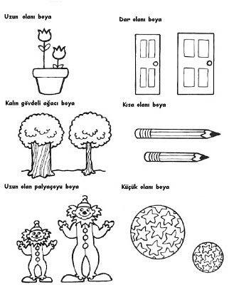 Zıt Kavram Etkinlik Preschool Worksheets Preschool Classroom Ve