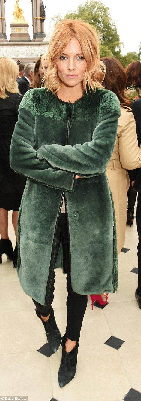 Lookalikes!Sienna's coat was perhaps a nod to the near-identical coat Chloe Green wore to...