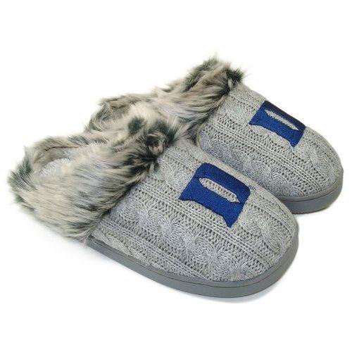 #Duke Blue Devils Ladies Knit Slippers - Gray