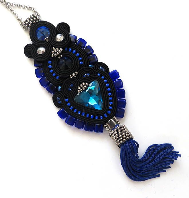 Excited to share the latest addition to my #etsy shop: Navy Blue Tassel Necklace, Blue Soutache Necklace, unique soutache necklace artistic jewelry Navy Blue Tassel Necklace Royal Blue Necklace http://etsy.me/2CFsBmj #soutache #sutaszula