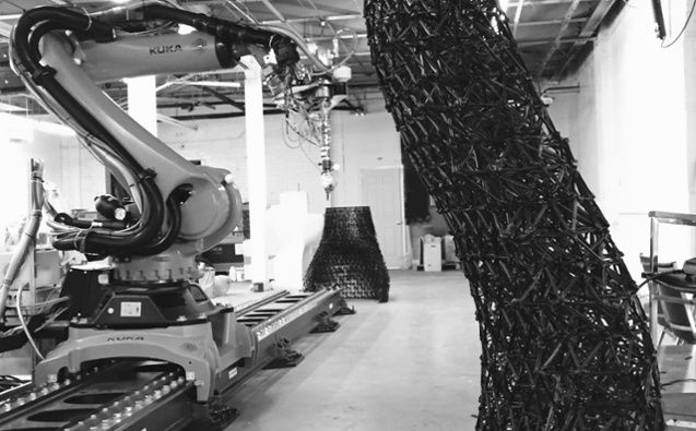 Branch Technology 3D Prints Building Walls With World's Largest Freeform 3D Printer  http://3dprint.com/85215/branch-3d-printed-walls/