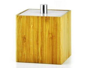 Mediterranean Style Bamboo Bathroom Canister. Mediterranean Design Bamboo Bath Accessories Cotton Jar