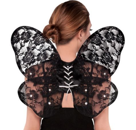 Black Lace Butterfly Wings - Party City