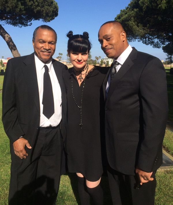 """""""Love this pic of me, Billy Dee Williams, & Rocky Carroll from NCIS set today."""" ~Twitter / PauleyP"""
