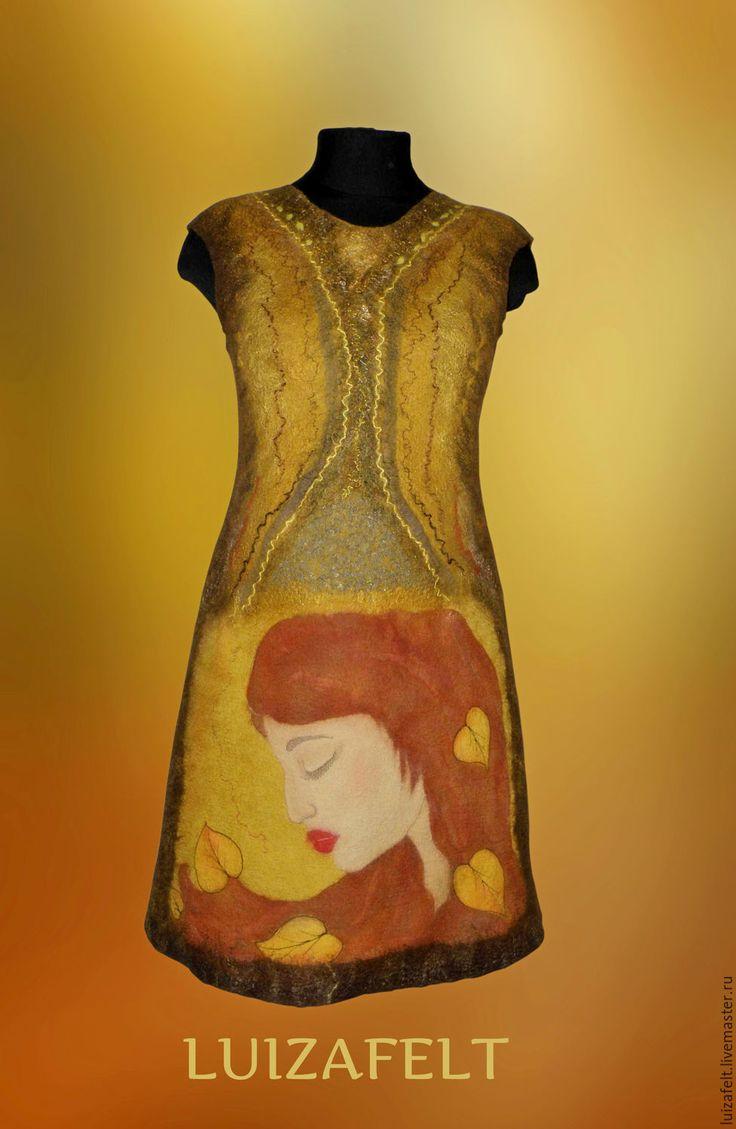 Купить Платье валяное Девушка Осень в интернет магазине на Ярмарке Мастеров