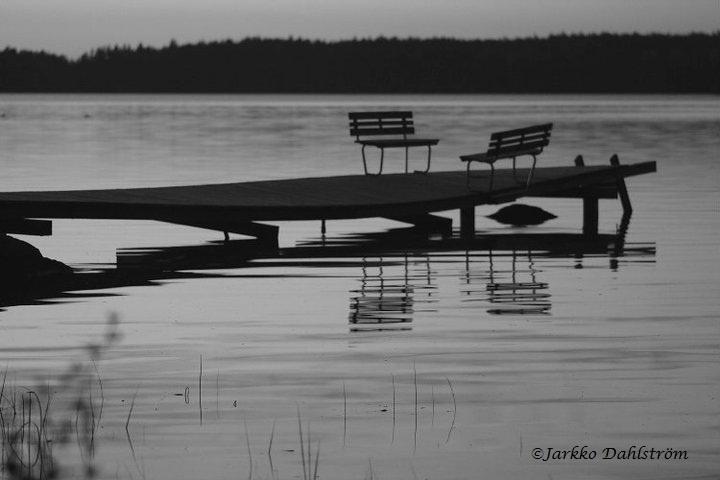 Dock at one beautiful Finnish lake