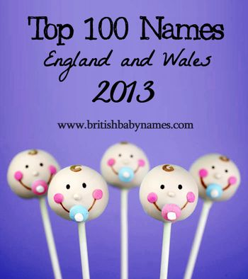 Top 100 Names England and Wales 2013