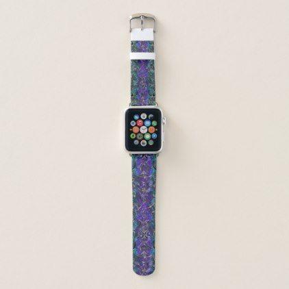 Purple and Turquoise Celtic Heart Knot Mandala Apple Watch Band - antique gifts stylish cool diy custom