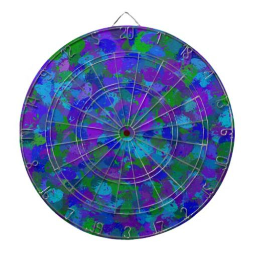 Peacock Color Splatters 4755 Dart Board