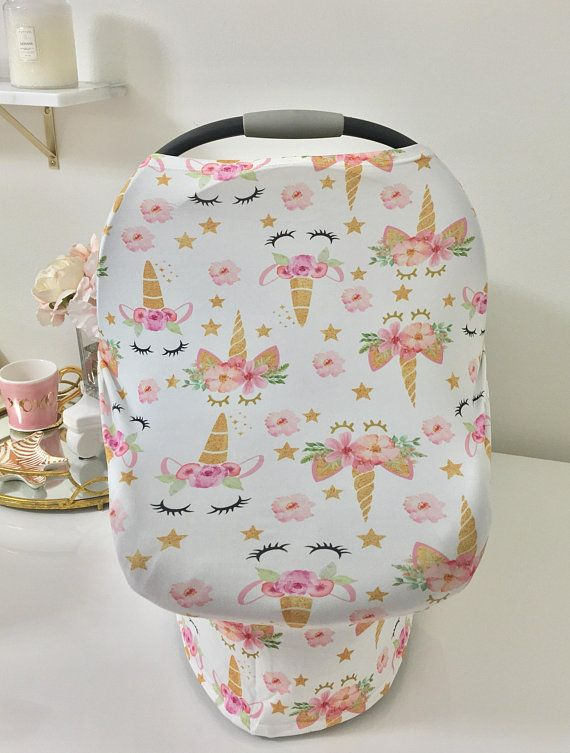 Unicorn Car Seat Canopy Limited Edition Fabric Canopies In Stock And Ready To Ship Cover Doubles As Shopping Cart