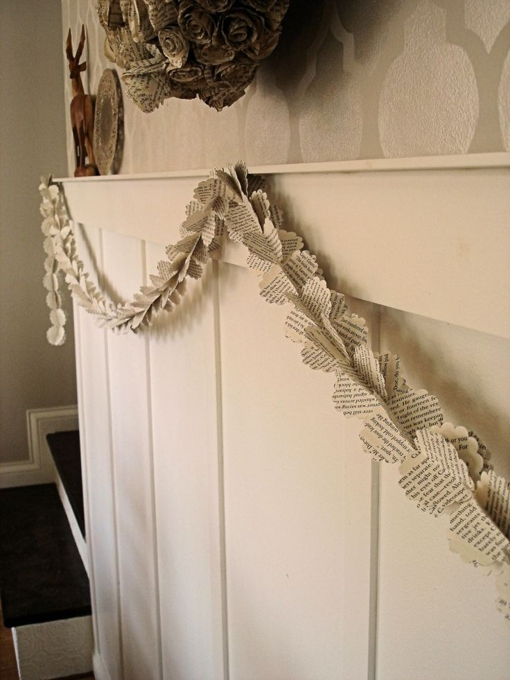 almost free craft the book page garland - Book Page Decorations