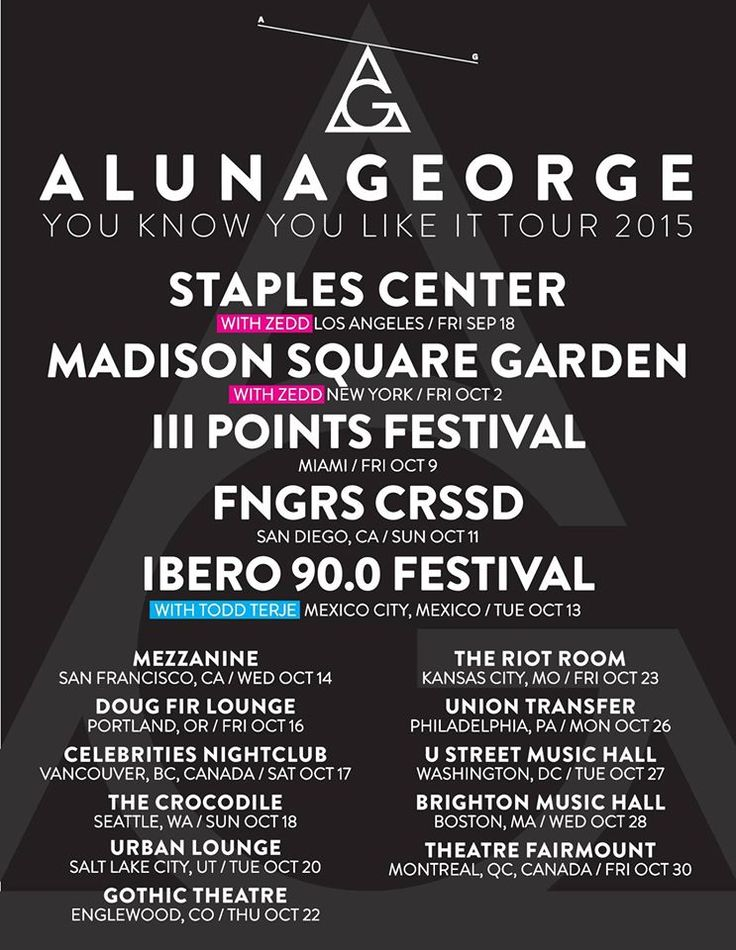 """NEWS: The pop duo, AlunaGeorge, has announced a North American tour, called """"You Know You Like It Tour,"""" for this fall. The tour includes dates supporting Zedd and stops at III Points Festival, FNGRS CRSSD and Ibero 90.0 Festival. You can check out the dates and details at http://digtb.us/1JzvG2X"""