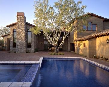 North Scottsdale Home for sale - mediterranean - pool - phoenix - by Fisher Custom Homes www.arizonasrealty.com