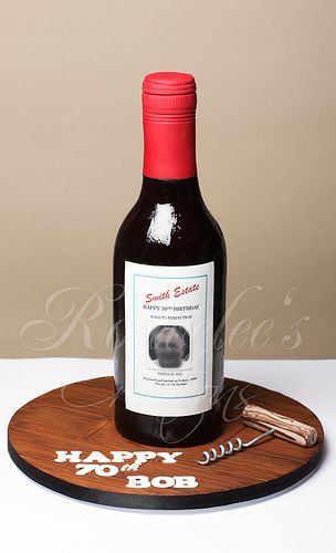 #WineBottle #Cake - For your cake decorating supplies, please visit craftcompany.co.uk