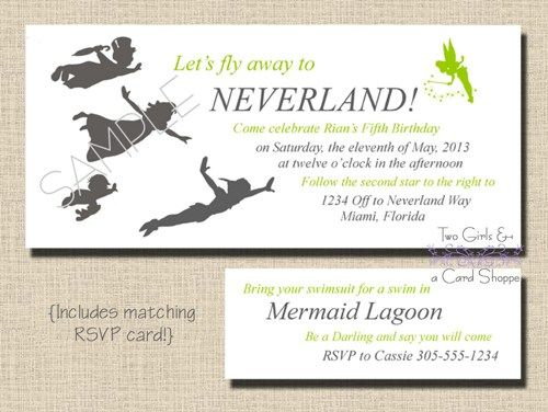 128 best images about Pirate Peter Pan Party – Neverland Party Invitations