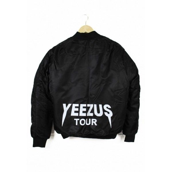 Replica Yeezus Tour Jacket ($78) ❤ liked on Polyvore featuring outerwear, jackets, blouson jacket, bomber jacket and flight jacket