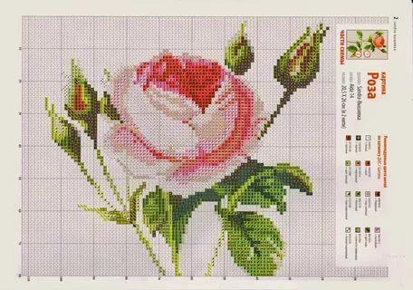 вышивка розы крестом схемы: 22 тыс изображений найдено в Яндекс.Картинках