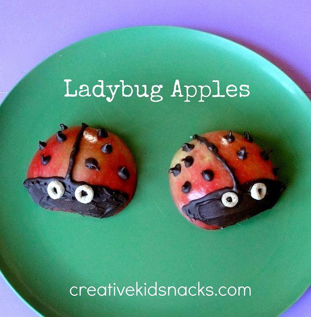 Creative Kid Snacks; Ladybug Apples