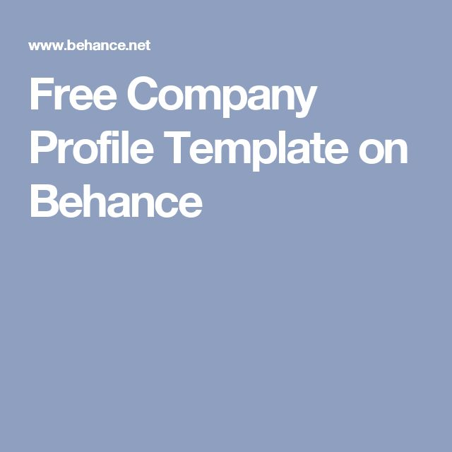 25 best ideas about Company Profile – Free Profile Templates