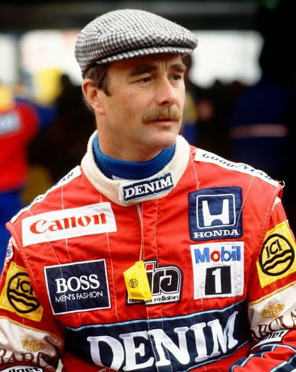 Nigel Mansell Driving Legends... www.alfamenswear.co.uk