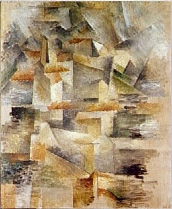 Cubisme Analytique Les usines du Rio-Tinto à l'Estaque 1910 Georges Braque.
